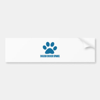 ENGLISH COCKER SPANIEL DOG DESIGNS BUMPER STICKER