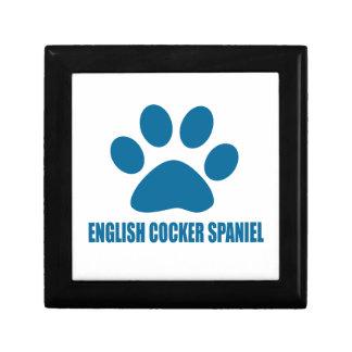 ENGLISH COCKER SPANIEL DOG DESIGNS GIFT BOX