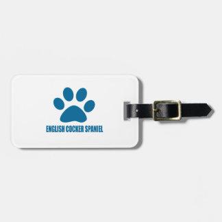 ENGLISH COCKER SPANIEL DOG DESIGNS LUGGAGE TAG