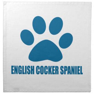 ENGLISH COCKER SPANIEL DOG DESIGNS NAPKIN