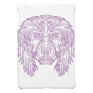 English Cocker Spaniel Dog Head Mono Line iPad Mini Cover
