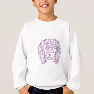 English Cocker Spaniel Dog Head Mono Line Sweatshirt