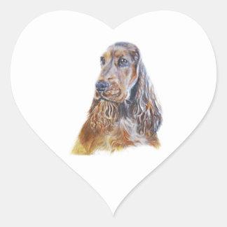 English Cocker Spaniel Heart Sticker