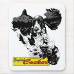English Cocker Spaniel Jumping Mouse Pad