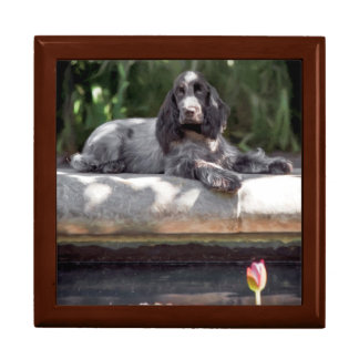 English Cocker Spaniel Keepsake Box