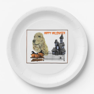 English Cocker Spaniel Paper Plate