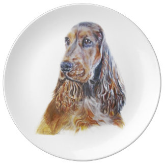 English Cocker Spaniel Plate