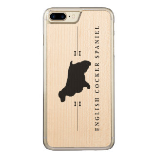 English Cocker Spaniel silhouette -1- Carved iPhone 7 Plus Case