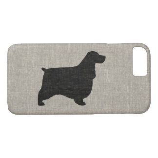 English Cocker Spaniel Silhouette iPhone 7 Case