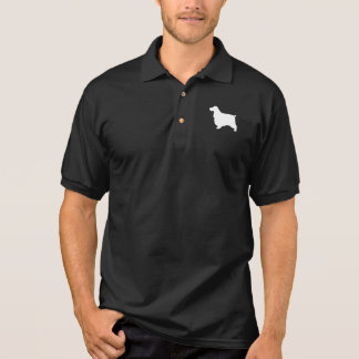 English Cocker Spaniel Silhouette Polo Shirt