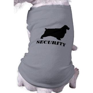 English Cocker Spaniel Silhouette with Custom Text Sleeveless Dog Shirt