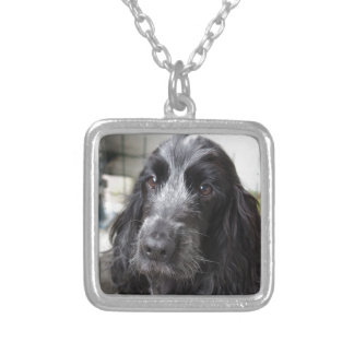 English Cocker Spaniel Silver Plated Necklace