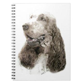 English Cocker Spaniel Spiral Note Book
