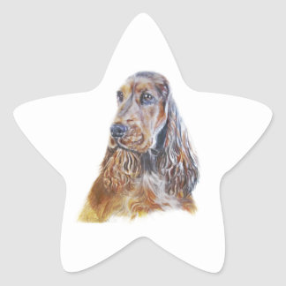 English Cocker Spaniel Star Sticker