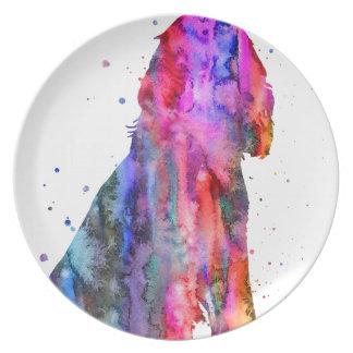 English Cocker Spaniel, watercolor Cocker Spaniel Plate