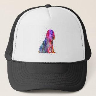 English Cocker Spaniel, watercolor Cocker Spaniel Trucker Hat