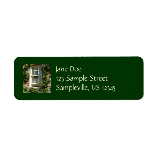 English Cottage I Return Address Label