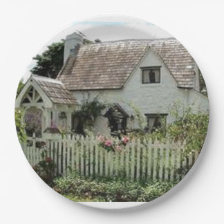 English Cottage Paper Plate