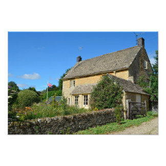 English cottage with garden photograph