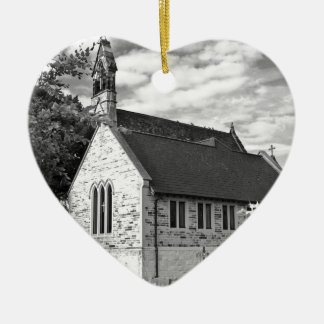 English Country church Christmas Tree Ornaments