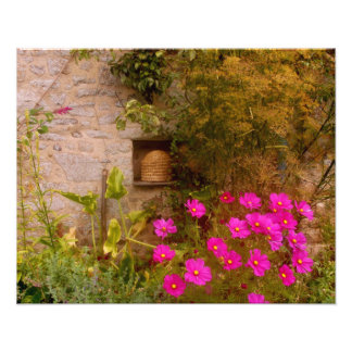 English Country House Garden in Summer Photographic Print