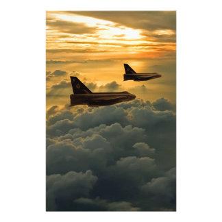 English Electric Lightning sunset flight Stationery