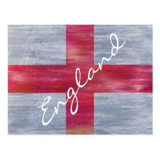 English England distressed flag Postcard
