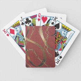 English Equestrian - Red Poker Deck