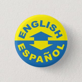 English Español - I Speak Spanish 3 Cm Round Badge