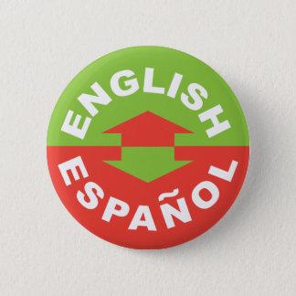 English Español - I Speak Spanish 6 Cm Round Badge