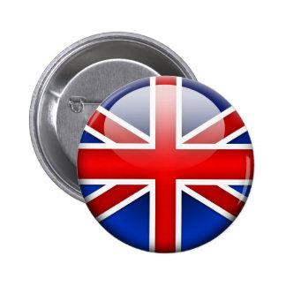English Flag 2.0 6 Cm Round Badge