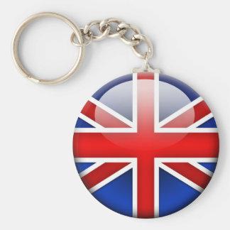 English Flag 2.0 Basic Round Button Key Ring