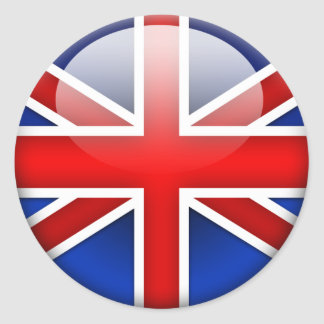 English Flag 2.0 Classic Round Sticker