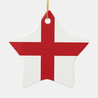 English flag ceramic ornament