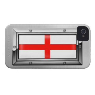 English Flag in a Steel Frame iPhone 4 Covers