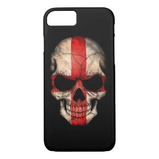 English Flag Skull on Black iPhone 7 Case