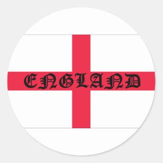 English Flag Classic Round Sticker