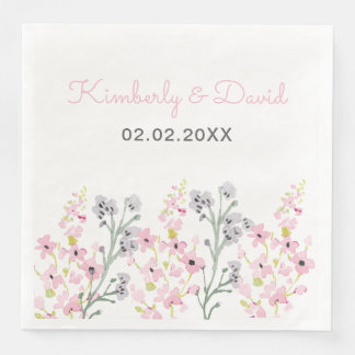 English Floral Garden Wedding Paper Napkins
