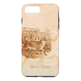 English Fox Brown Rustic Country Side Personalized iPhone 7 Plus Case