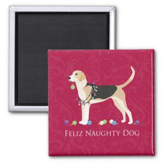 English Foxhound Christmas Magnet