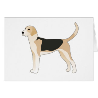 English Foxhound Dog Breed Illustration Card