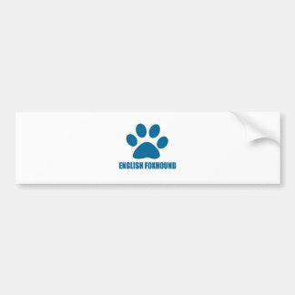 ENGLISH FOXHOUND DOG DESIGNS BUMPER STICKER