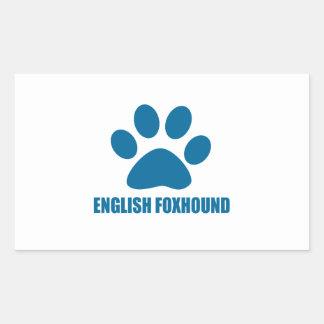 ENGLISH FOXHOUND DOG DESIGNS RECTANGULAR STICKER