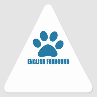 ENGLISH FOXHOUND DOG DESIGNS TRIANGLE STICKER