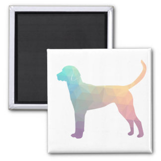 English Foxhound Geometric Pattern Silhouette Magnet