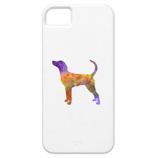 English Foxhound in watercolor Barely There iPhone 5 Case