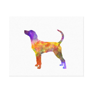 English Foxhound in watercolor Canvas Print