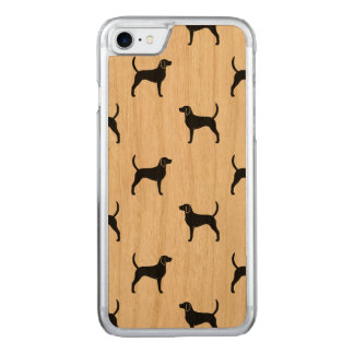 English Foxhound Silhouettes Pattern Carved iPhone 8/7 Case