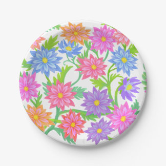 English Garden Floral Paper Plates 7 Inch Paper Plate