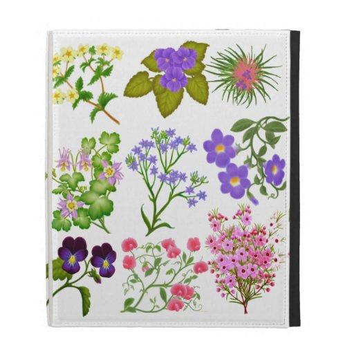 English Garden Floral Study iPad Case